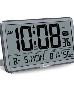 Digital Wall Clock with Temperature Humidity and Date