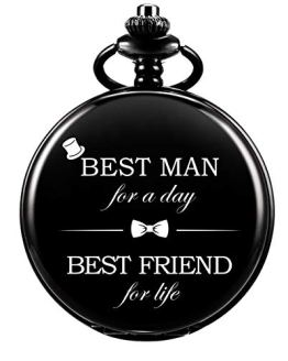 Pocket Watch Men Personalized Black Chain
