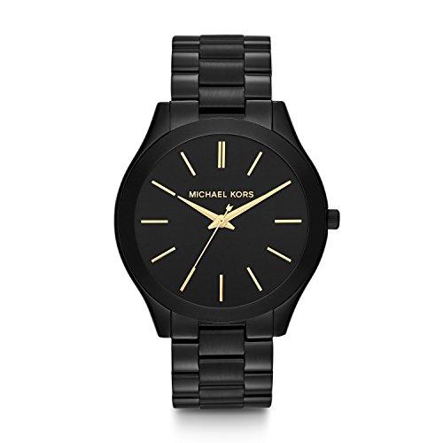 Michael Kors Women's Slim Runway Black Watch