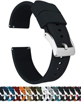 Elite Silicone Watch Bands 22mm Black