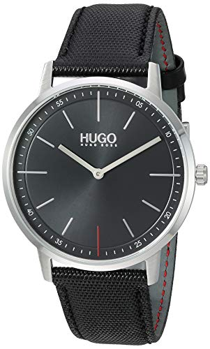 HUGO by Hugo Boss Watch with Leather Strap, Black