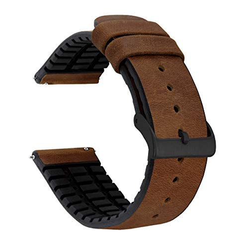 Barton Leather and Rubber Hybrid Watch Band