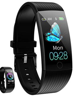 Smartwatch Waterproof Fitness Watch with Blood Pressure Heart Rate Monitor