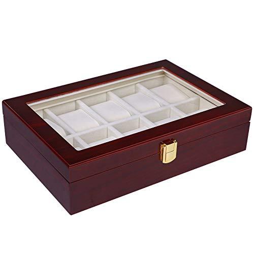 Watch Box Cherry Watch Display Case Storage