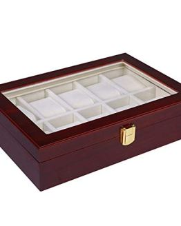 Watch Box Cherry Watch Display Case Storage