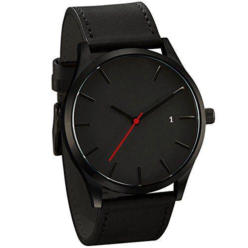 Low-Key Minimalist Connotation Leather Men's Quartz Wristwatch