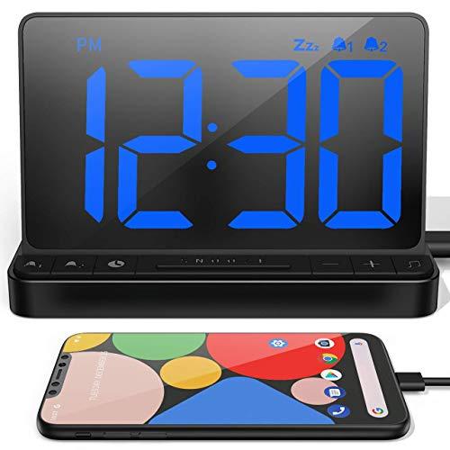 Bedrooms, Bedside Digital Alarm Clock with Large Display