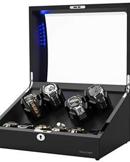 Watch Winder for 4 Automatic Watches, with Extra 6 Watch Storages