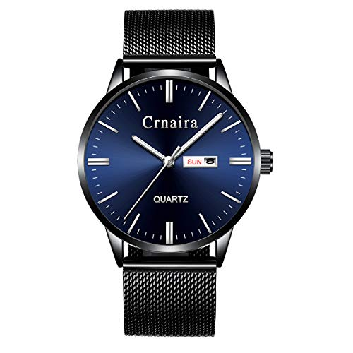 Mens Watch Deep Blue/Black Watch/Ultra Thin Wrist Watches