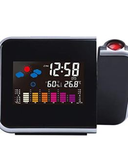 Rumfo Projection Alarm Clock, Smart LCD Display LED