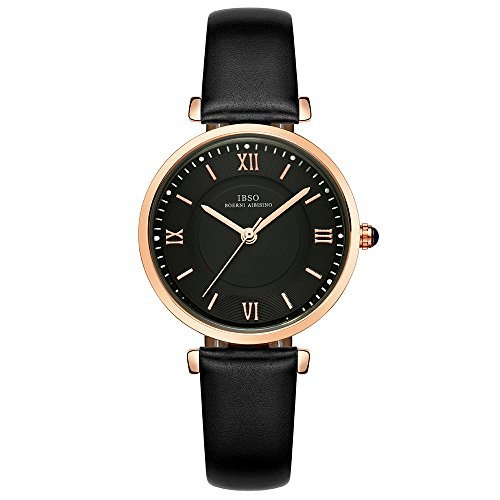 IBSO Ladies Watches Leather Band Round Case Fashion
