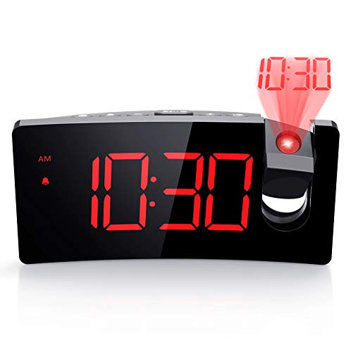 Projection Digital Clock with USB Phone Charger