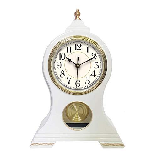 Beesealy Mantel Clock, Table Clock, Silent Non-Ticking Mantel Clock