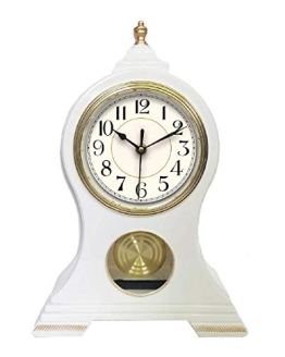 Beesealy Mantel Clock, Table Clock, Silent Non-Ticking Mantel Clock