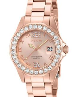 Invicta Women's Pro Diver 38mm Rose Gold Quartz Watch