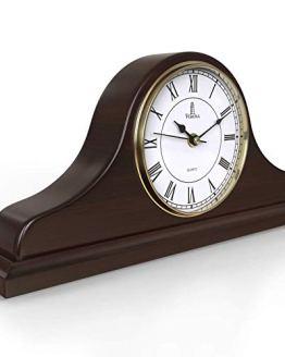Mantel Clock, Wooden Mantle Clock for Living Room Décor