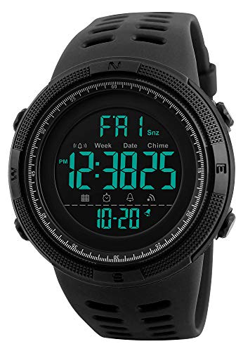 Digital LED Military Dual Time Back Light Stopwatch