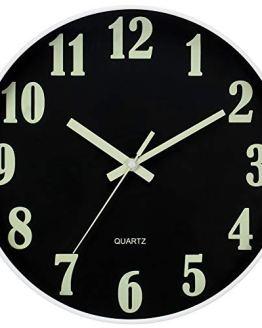 Modern Night Light Wall Clock Large Luminous Function