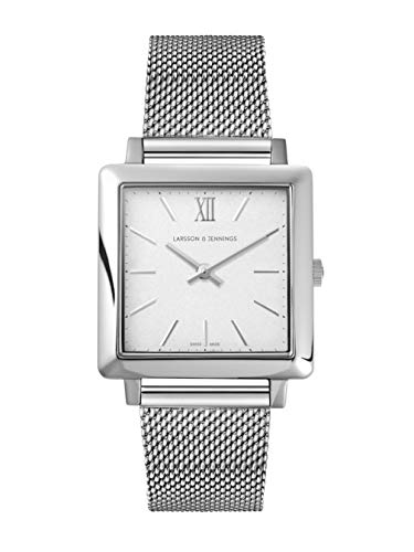 Larsson Jennings 34mm Satin White dial and Silver Stainless