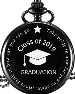 Engraved Pocket Watch Class of 2019 Graduation Gift
