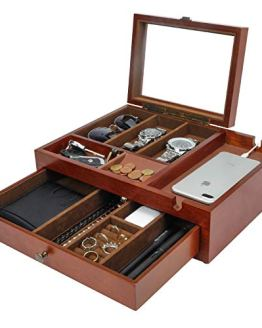 Smartphone Charging Station for Watches Valet Organizer