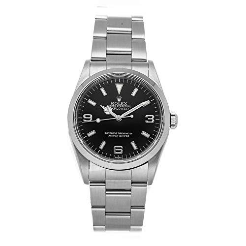 Black Rolex Explorer Mechanical Watch
