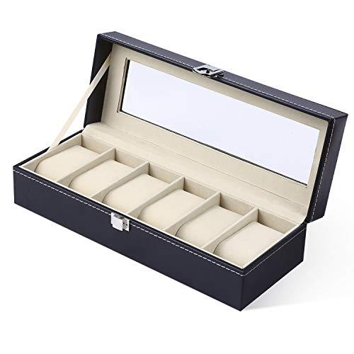 Watch Organizer, Ohuhu 6 Slot Watch Box PU Leather