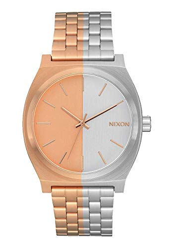 NIXON Time Teller A045 - Rose Gold/Split - 100m Water Resistant