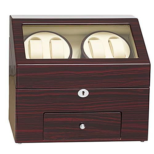 JQUEEN Automatic Wood Watch Winder Display Box