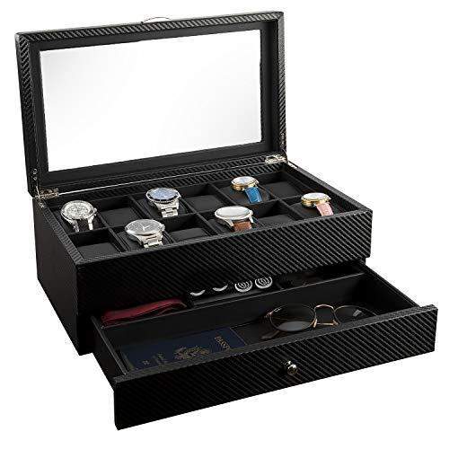 Display Case Organizer Watch Box 12 Watch Slots