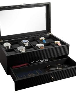 Display Case Organizer Watch Box 12 Watch Slots