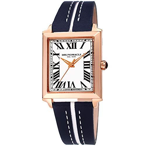 Blue Bruno Magli Quartz Italian Leather Strap Watch