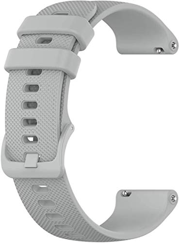 Grey Easy Change Replacement Soft Silicone Rubber Watch Band