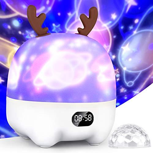 Star Projector Night Light for Kids Baby, Bluetooth Music Speaker