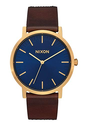 NIXON Porter Leather Water Resistant Men's Analog Classic Watch