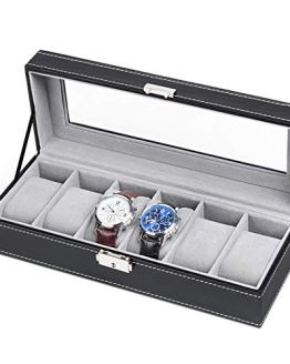 Leather Watch Box Display Case Organizer