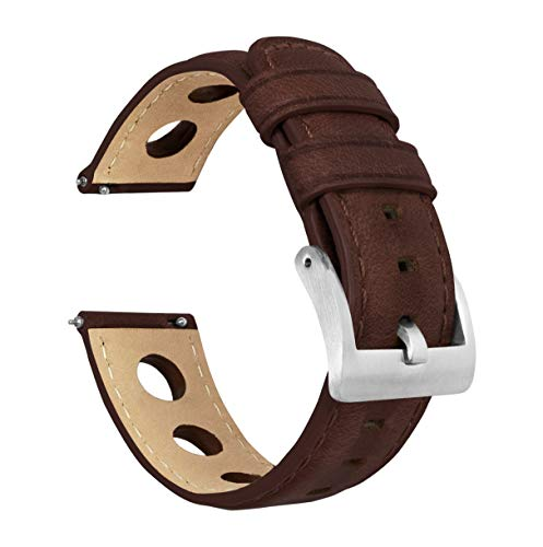 20mm Chocolate - Barton Rally Horween Leather Watch Bands
