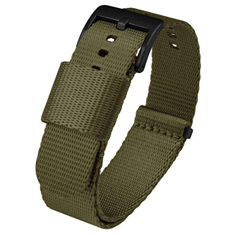 22mm Army Green NATO Style Watch Strap