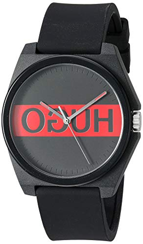 Blackquartz Watch with Rubber Strap HUGO by Hugo Boss