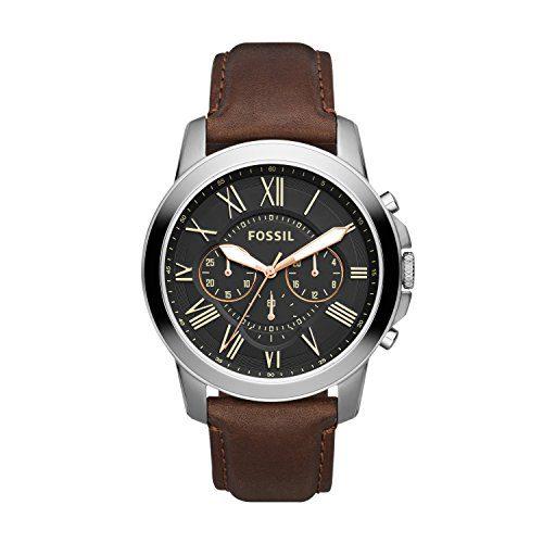 Fossil Men's Grant Quartz Leather Chronograph Watch