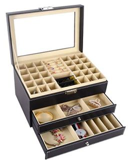 Jewelry Box Organizer Holder Drawer Tray
