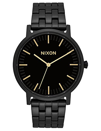 NIXON Porter A1057 - All Black/Gold - 50m Water Resistant