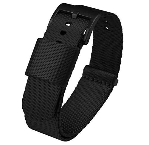 18mm Black Jetson NATO Style Watch Strap