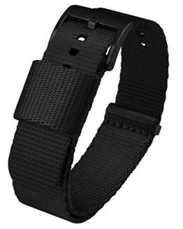 22mm Black - BARTON Jetson NATO Style Watch Strap