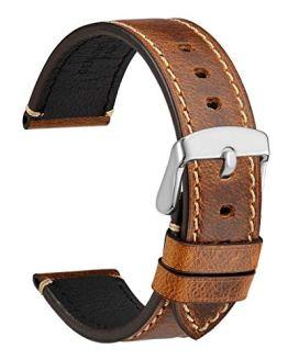 WOCCI 22mm Watch Band, Premium Saddle Style Vintage