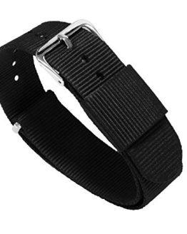 20mm Black Standard Length- BARTON Watch Bands
