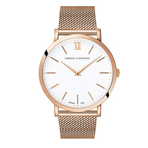 Larsson & Jennings Rose Gold Watch with 40mm Satin White dial