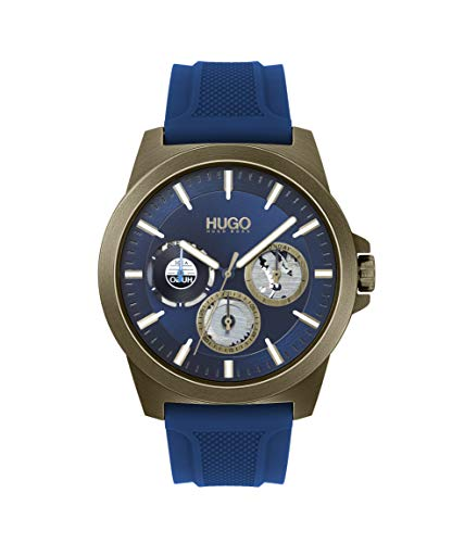 Hugo Boss Watch with Silicone Strap, Blue