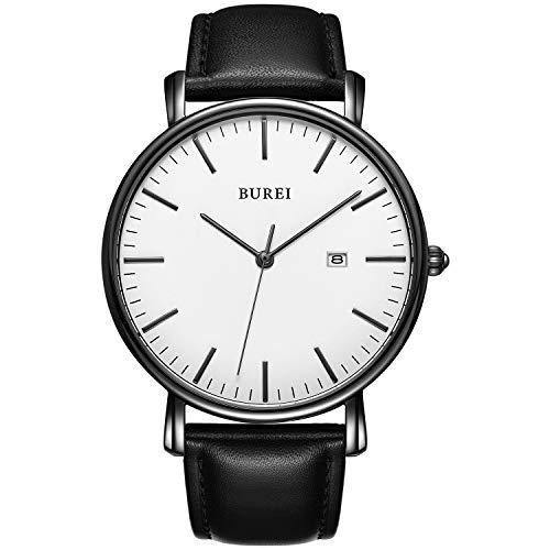 BUREI Men's Fashion Minimalist Wrist Watch Analog
