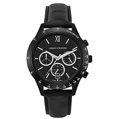 Unisex Mens Womens Watch with 39mm Black Dial